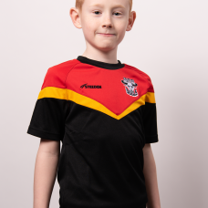 2021 Kids Training Tee - Red, Amber and Black