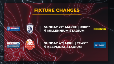 FIXTURE CHANGES AND STREAMING DETAILS CONFIRMED