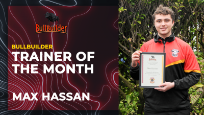 MAX HASSAN NAMED BULLBUILDER TRAINER OF THE MONTH